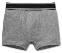 Hip-Shorts Feinripp grau meliert - Modern Rib