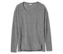 Pullover Wolle/Kaschmir Strick grau meliert - Revival Laura