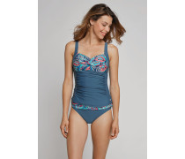 Schiesser Bikini-Midi-Slip verstellbar mehrfarbig - Aqua Mix & Match für Damen