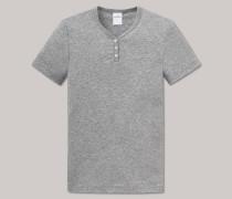 Shirt kurzarm Feinripp grau meliert - Soft Cotton für Mädchen
