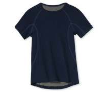 Shirt kurzarm Funktionswäsche warm dunkelblau - Boys Thermo Light