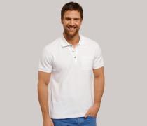Poloshirt Piquee kurzarm weiß für Herren