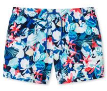 Schiesser Swimshorts Webware recycelt Hawaii-Muster mehrfarbig