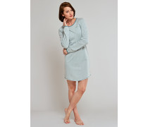 Sleepshirt Raglan-Schnittform mineral-cremeweiß geringelt - a lovely kind of quiet