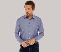 Schiesser Hemd langarm Kent-Kragen blau - REGULAR FIT für Herren