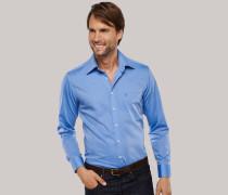 Schiesser blaues Oberhemd in Regular-Fit-Schnittform für Herren