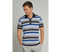 Poloshirt kurzarm Heavy Single Jersey Blockringel blau - Selected! Premium für Herren,Poloshirt kurzarm Heavyingle Jersey Blockringel blau -elected! Premium für Herren