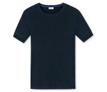 Shirt kurzarm nachtblau meliert - Revival Karl-Heinz