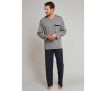 Schlafanzug Jersey taupe - Original Classics