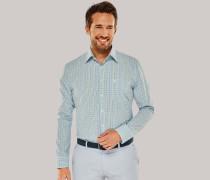 Schiesser Hemd langarm Kent-Kragen mehrfarbig kariert - REGULAR FIT für Herren
