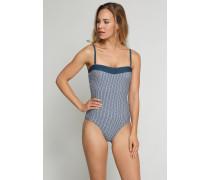 Schiesser Badeanzug mit variablen Trägern admiral-weiß - Aqua Refresh Summer für Damen