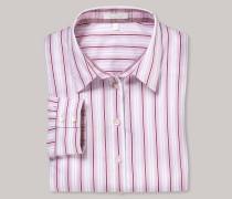 Bluse langarm rosé gestreift - tailliert