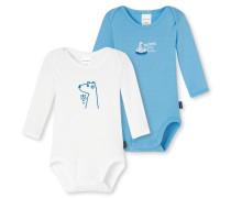 Babybodys langarm blau/ weiß - Eisbär & Co.