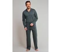 Pyjama Jersey merzerisiert dunkelgrün kariert - Selected! Premium