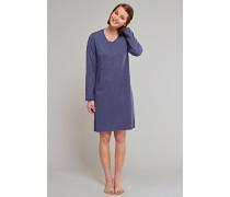 Sleepshirt langarm Jersey dunkelblau bedruckt - someday in winter