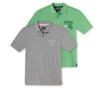 Poloshirt kurzarm 2er-Pack mehrfarbig