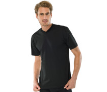 American T-Shirts V-Ausschnitt 2er-Pack schwarz – Essentials