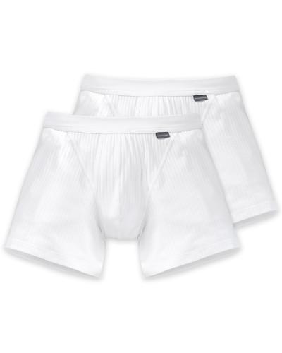 Shorts mit Eingriff 2er-Pack weiß - Authentic