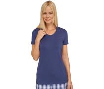 """dunkelblaues """"Mix & Relax"""" T-Shirt mit hohem Modal-Anteil"""
