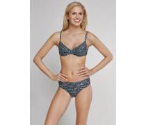 Schiesser Bügel-Bikini mit Tai-Slip anthrazit-weiß gemustert - Aqua Raw Coast für Damen
