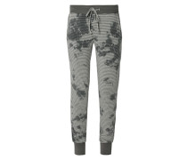 Damen Pyjama-Pants mit Batik-Muster grau