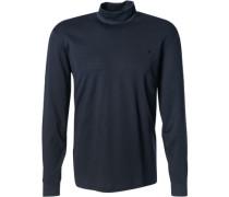 Herren Langarm-Shirt Baumwolle navy