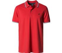 Herren Polo-Shirt Baumwoll-Piqué leuchtrot