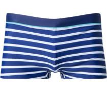 Herren Bademode Trunk Microfaser-Stretch marine-weiß gestreift blau
