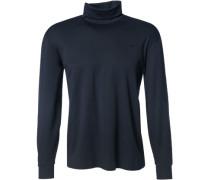 Herren Rollkragen-Shirt Baumwolle navy