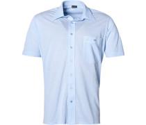 Herren Hemd Jersey hellblau