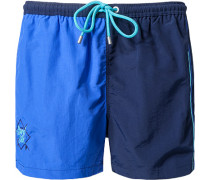 Herren Bade-Shorts Microfaser marine-royal