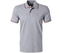 Herren Polo-Shirt Baumwoll-Piqué grau meliert