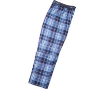 Herren Pyjama-Hose Baumwolle-Modal blau kariert