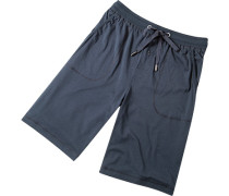 Herren Pyjama-Bermudas Baumwolle-Modal navy blau