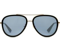 Pilotenbrille mit Metallgestell