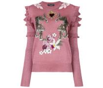 floral leopard jumper