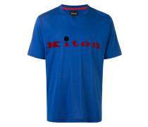 T-Shirt mit Samt-Logo