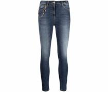 Skinny-Jeans mit Zierkette