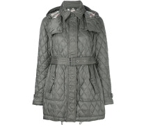 quilted padded trench coat