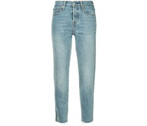 'Wedge' Jeans mit ausgefranstem Saum