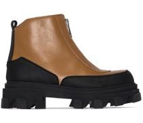 Stiefel mit geriffelter Plateausohle