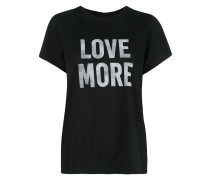 "T-Shirt mit ""Love More""-Print"