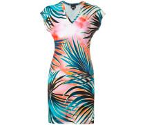T-Shirt-Kleid mit Blätter-Print