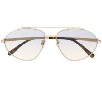 Zweifarbige Pilotenbrille