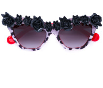 Sonnenbrille mit floraler Applikation - women