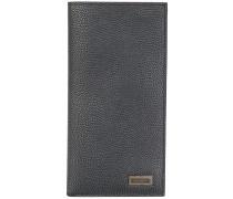 pebbled grain vertical wallet