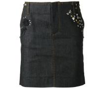 embellished denim skirt - women