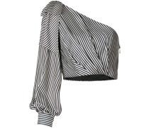 Gestreifte Bluse mit einschultrigem Design