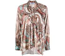 paisley print slouchy shirt