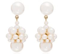 14kt Gelbgoldohrringe mit Perle